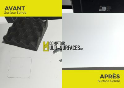 Réparation de comptoir de Surface Solide