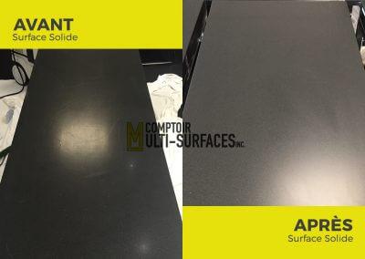 Polissage de comptoir de Surface Solide